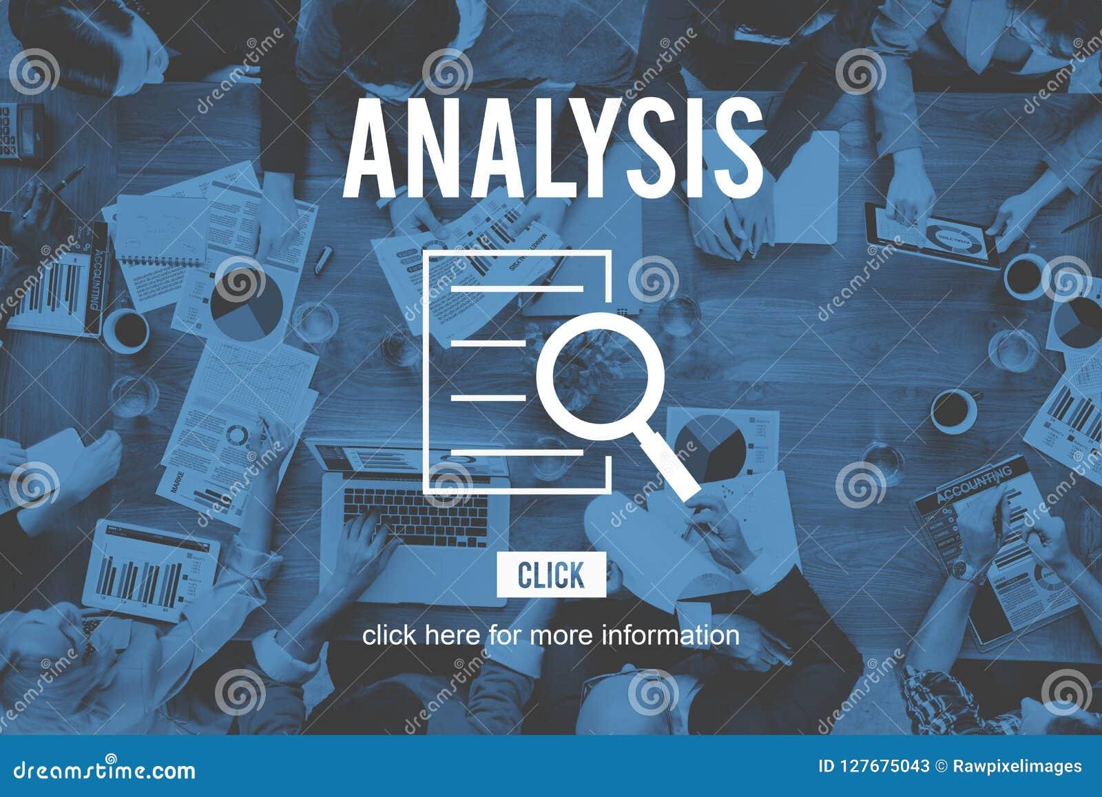 Analyse-Forschungs-Untersuchungs-Entdeckungs-Konzept