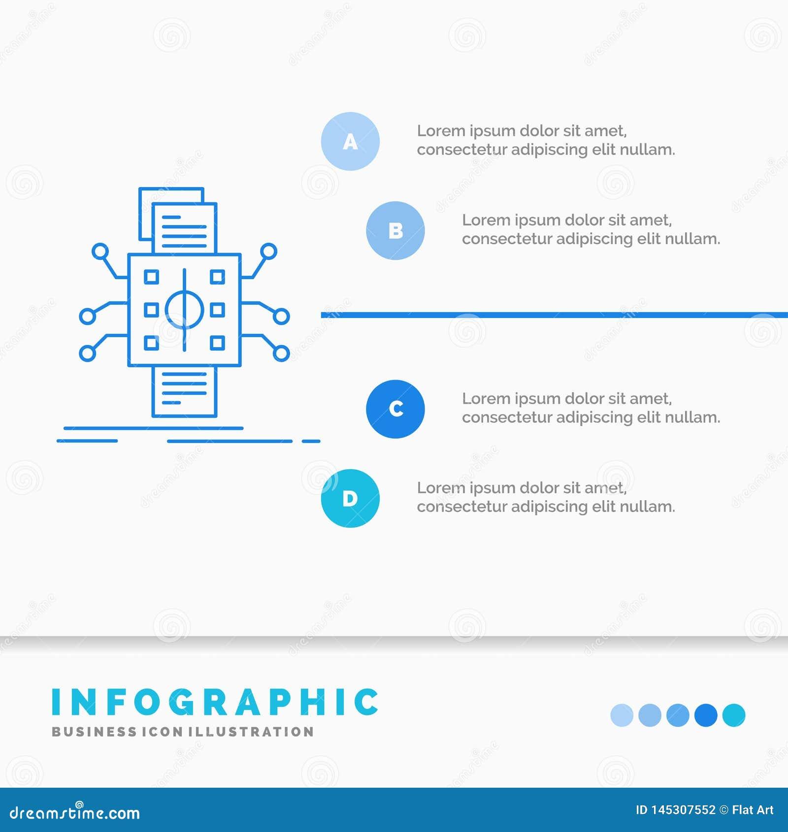 Analyse, gegevens, gegeven, verwerking, meldend Infographics-Malplaatje voor Website en Presentatie Infographic stijl van het lij