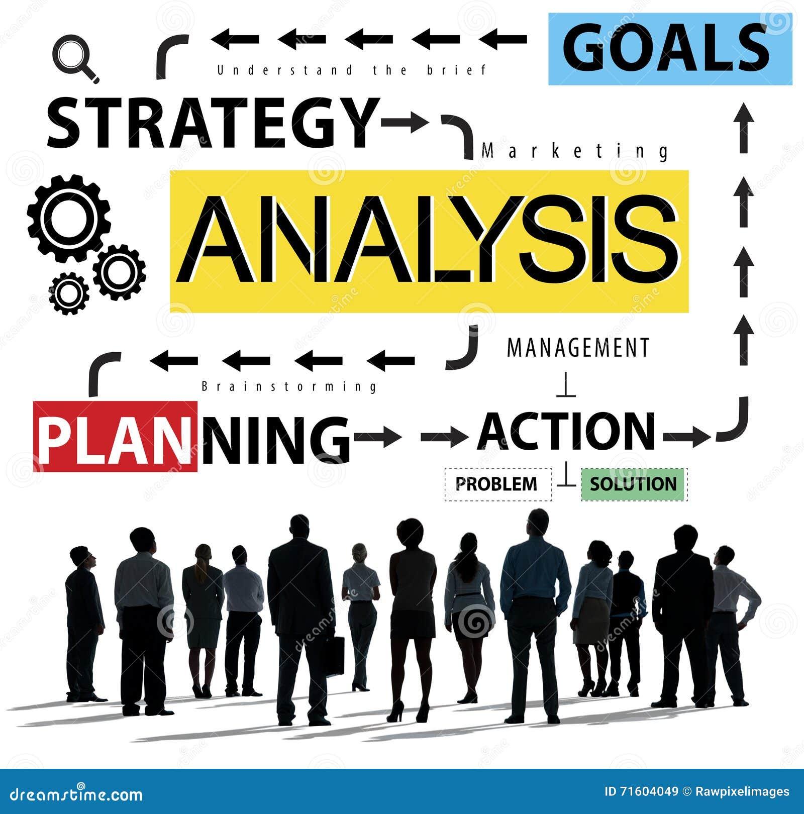 Analyse-Informations-Daten, die Strategy Analytics-Konzept planen