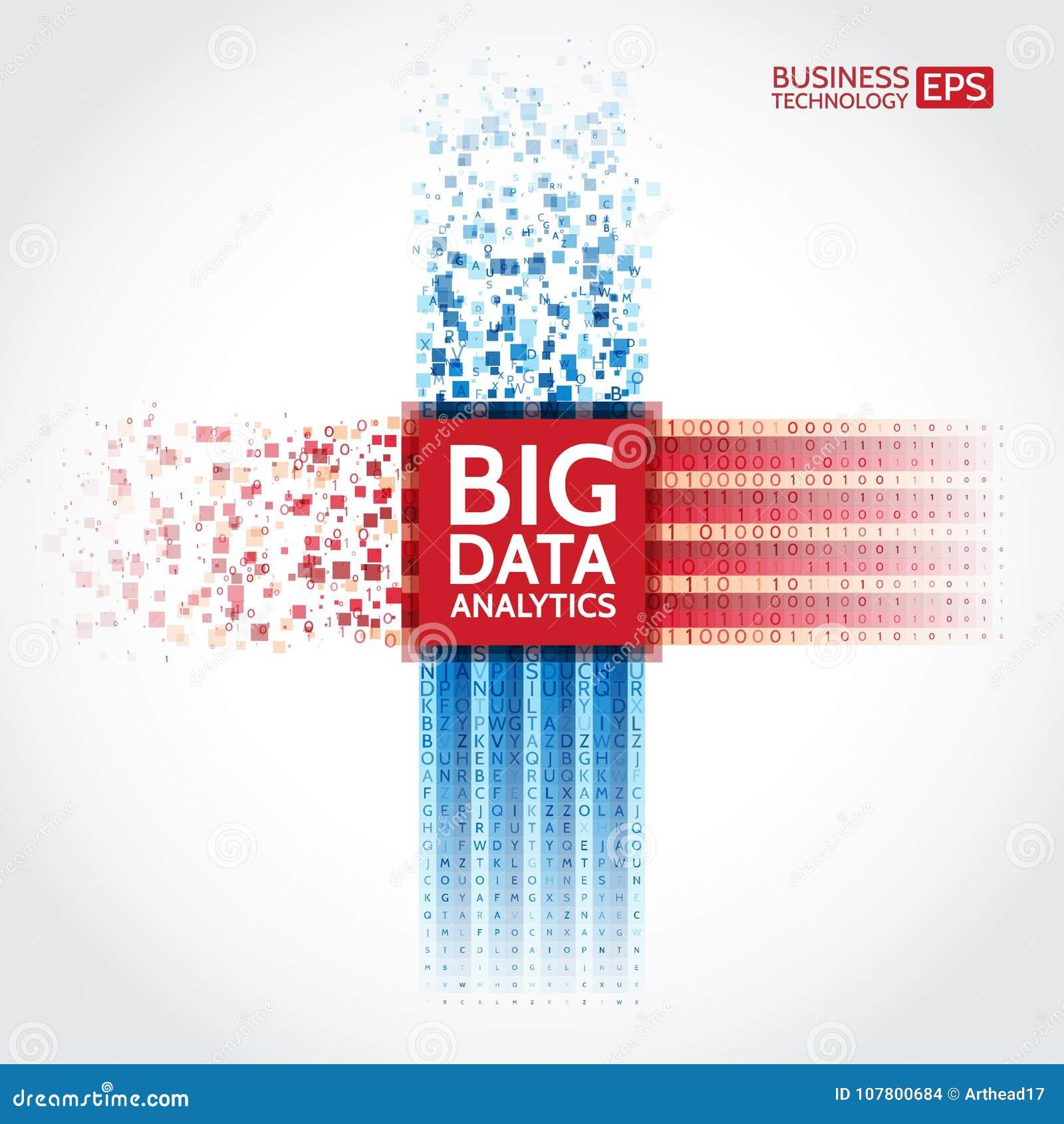 Analyse van informatie Visualisatie voor het exploiteren van gegevens Abstracte digitale sorterende informatie