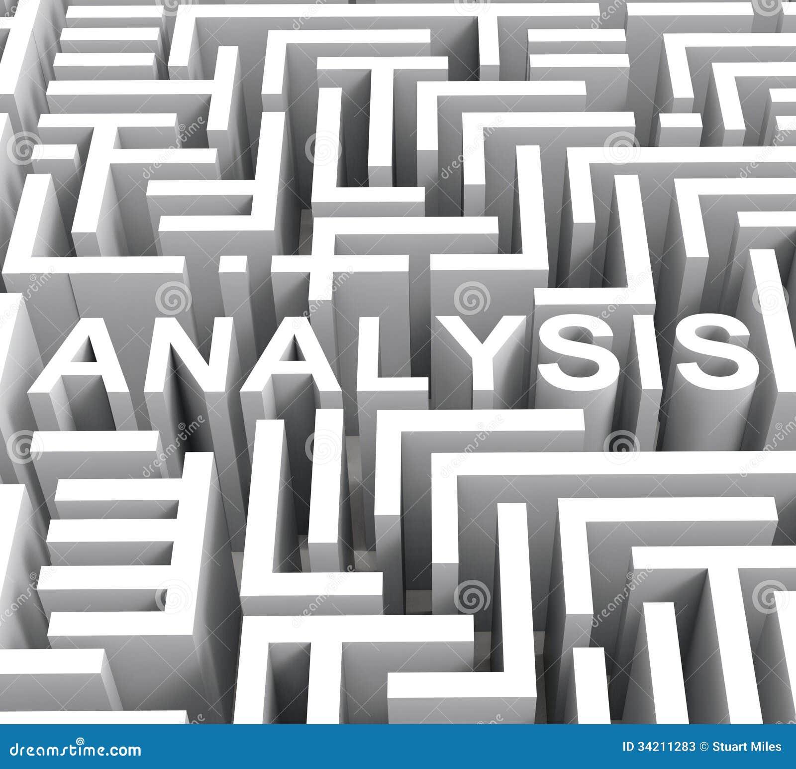 Analyseword toont Onderzoek of Onderzoek
