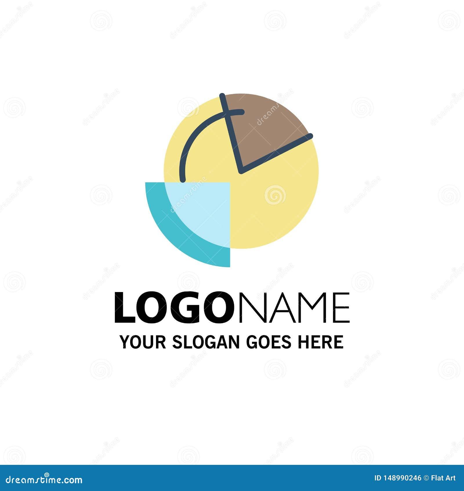 Analysis, Chart, Data, Diagram, Monitoring Business Logo Template. Flat Color