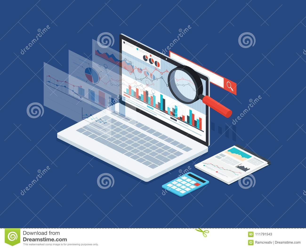 Analysis data and development statistic. Modern concept of business strategy, search information, digital marketing