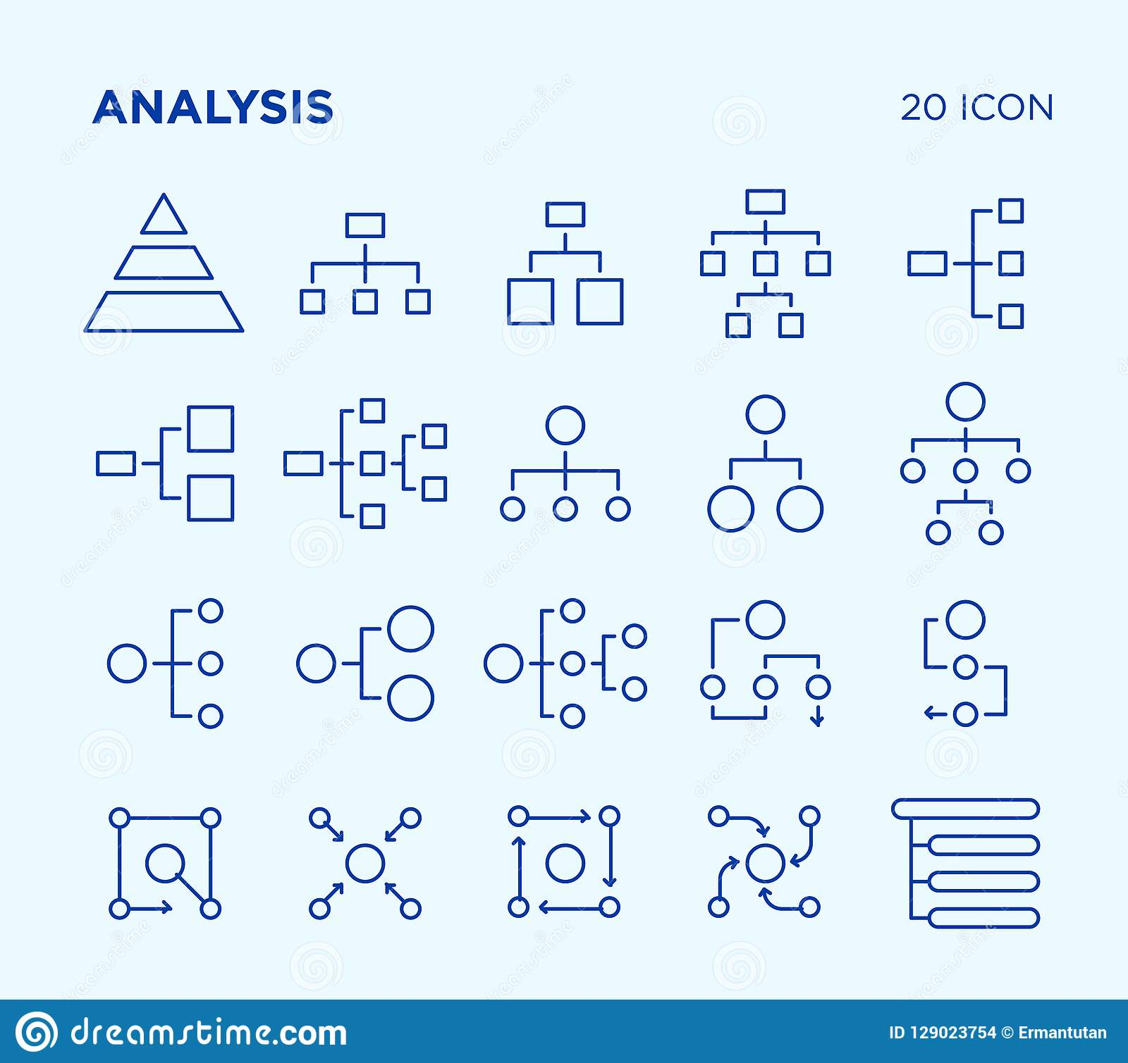 Simple Set Of Analysis  Diagrams  Vector Line Icons  Stock Illustration