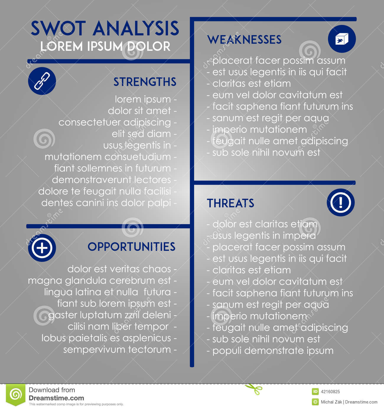 Analysis Template SWOT In Marketing Vector Image 42160825 – Marketing Analysis Template