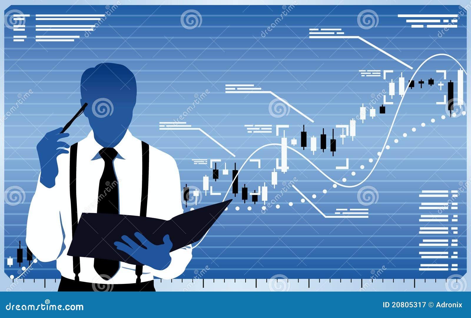 analyste d u0026 39 affaires illustration de vecteur  illustration du commer u00e7ant