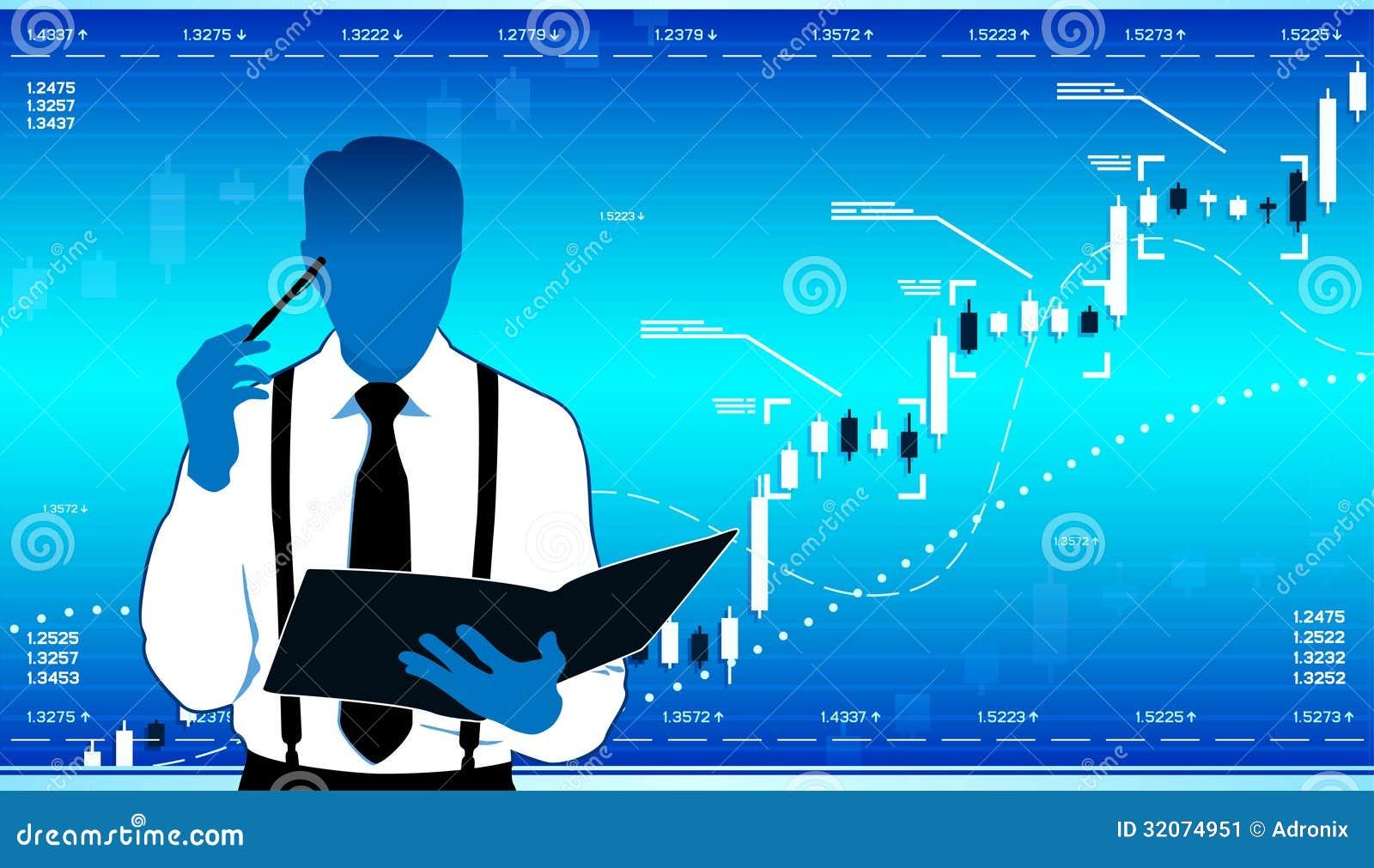 analyste d u0026 39 affaires illustration de vecteur  illustration du donn u00e9es