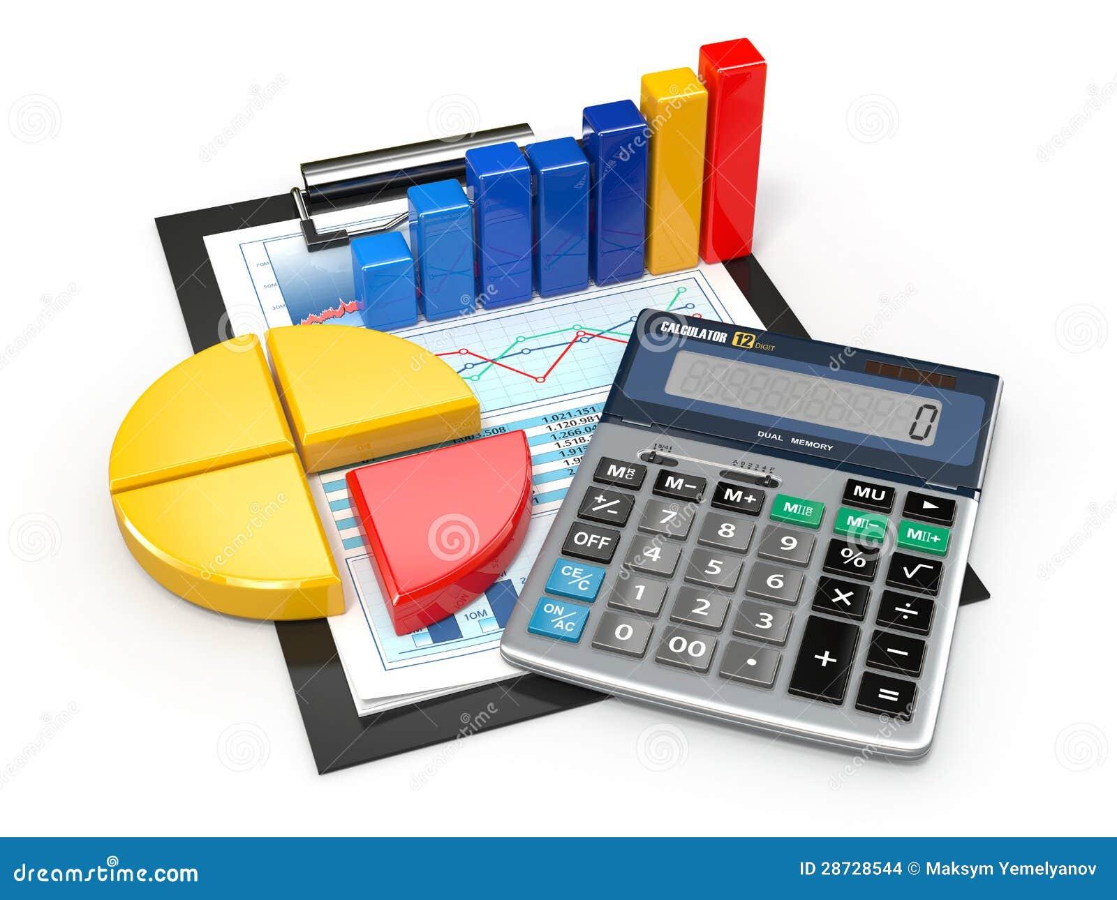 Analytics del asunto. Calculadora e informes financieros.