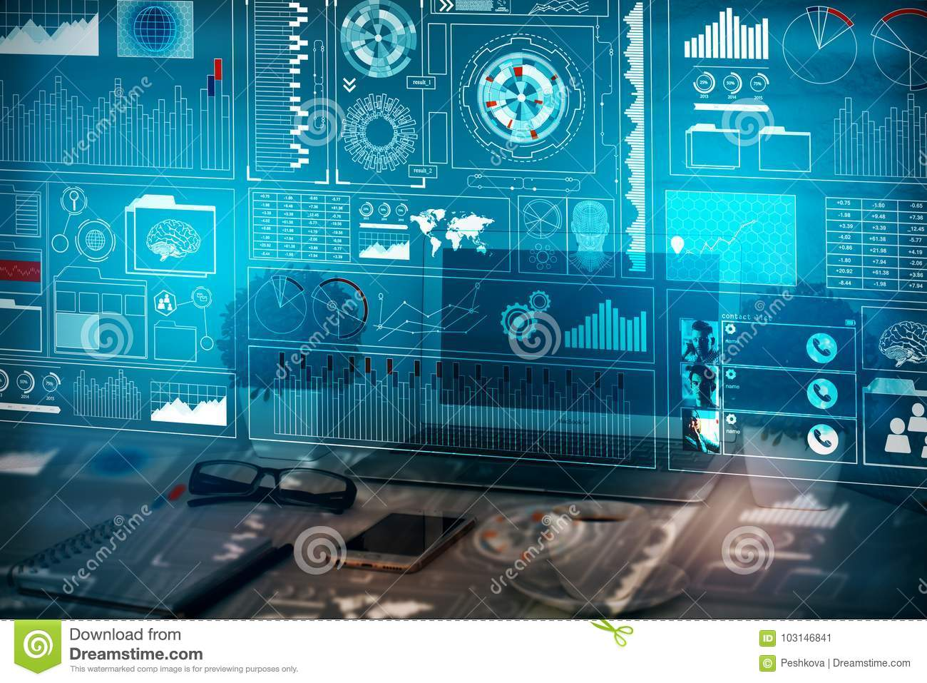 Analytics, Finance And Innovation Concept Stock Image ...