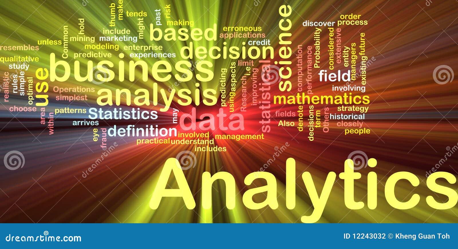 Analytics Hintergrund-Konzeptglühen