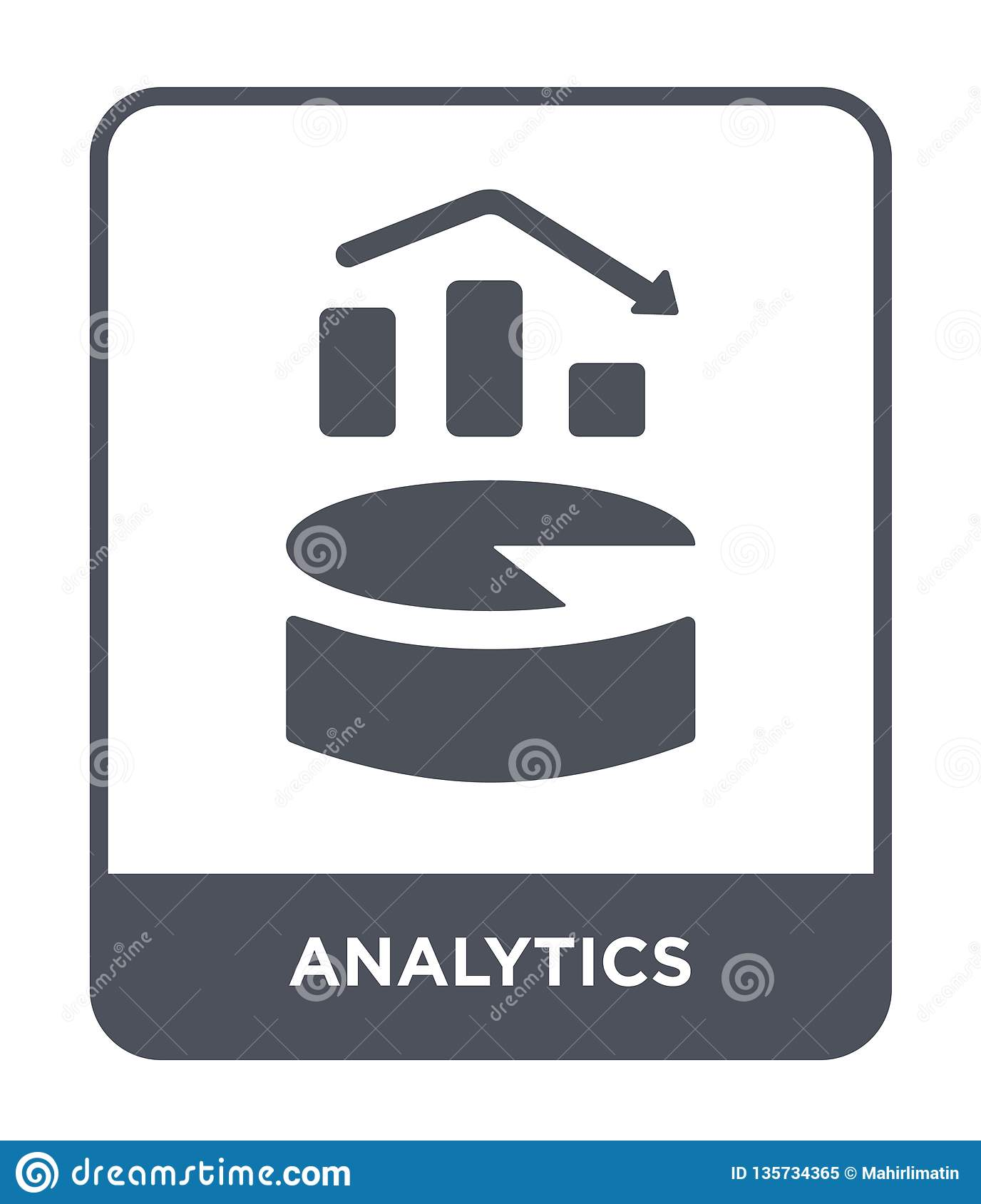 analytics icon in trendy design style. analytics icon isolated on white background. analytics vector icon simple and modern flat