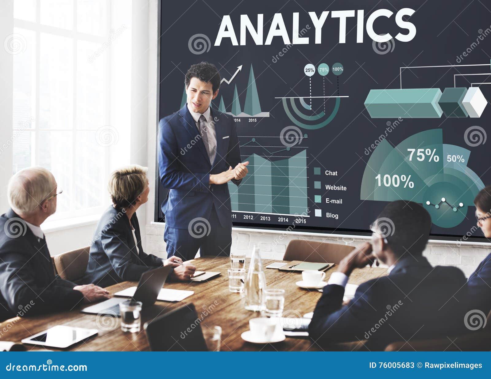 Analytics Marketing Business Report Concept Stock Image