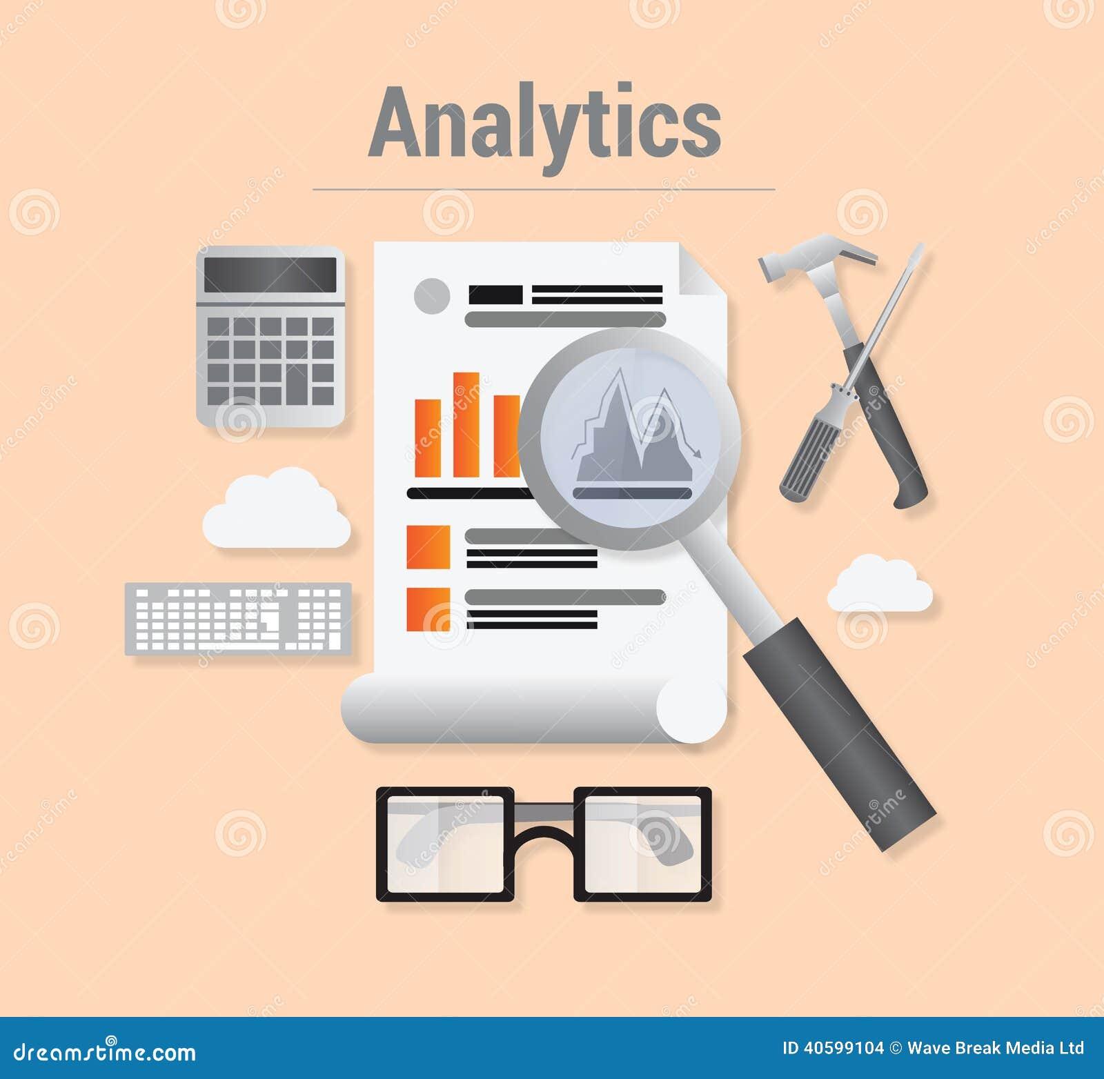 Analytics met gegevens en vergrootglas