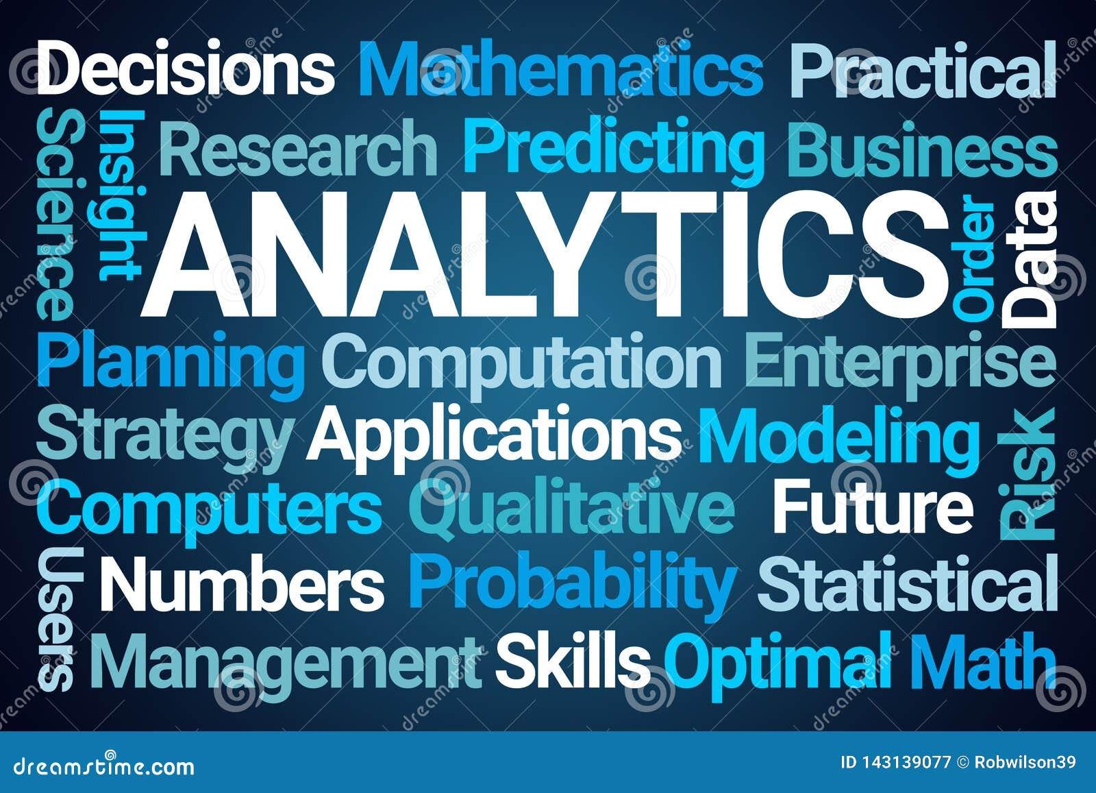Analytics-Wort-Wolke