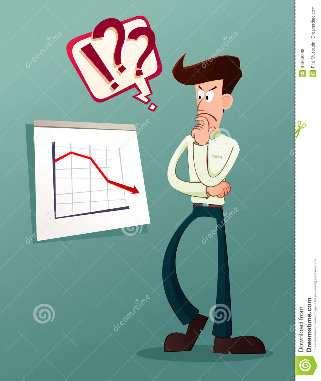 Analyze Business Result Stock Vector - Image: 44546888