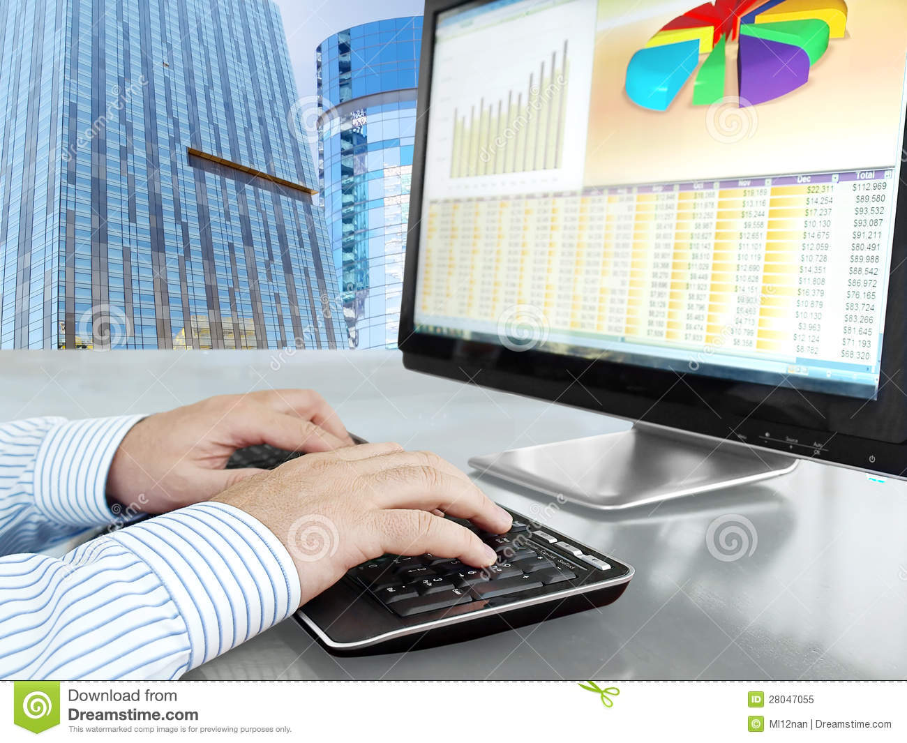 Analyzing Data On Computer Royalty Free Stock Photo ...