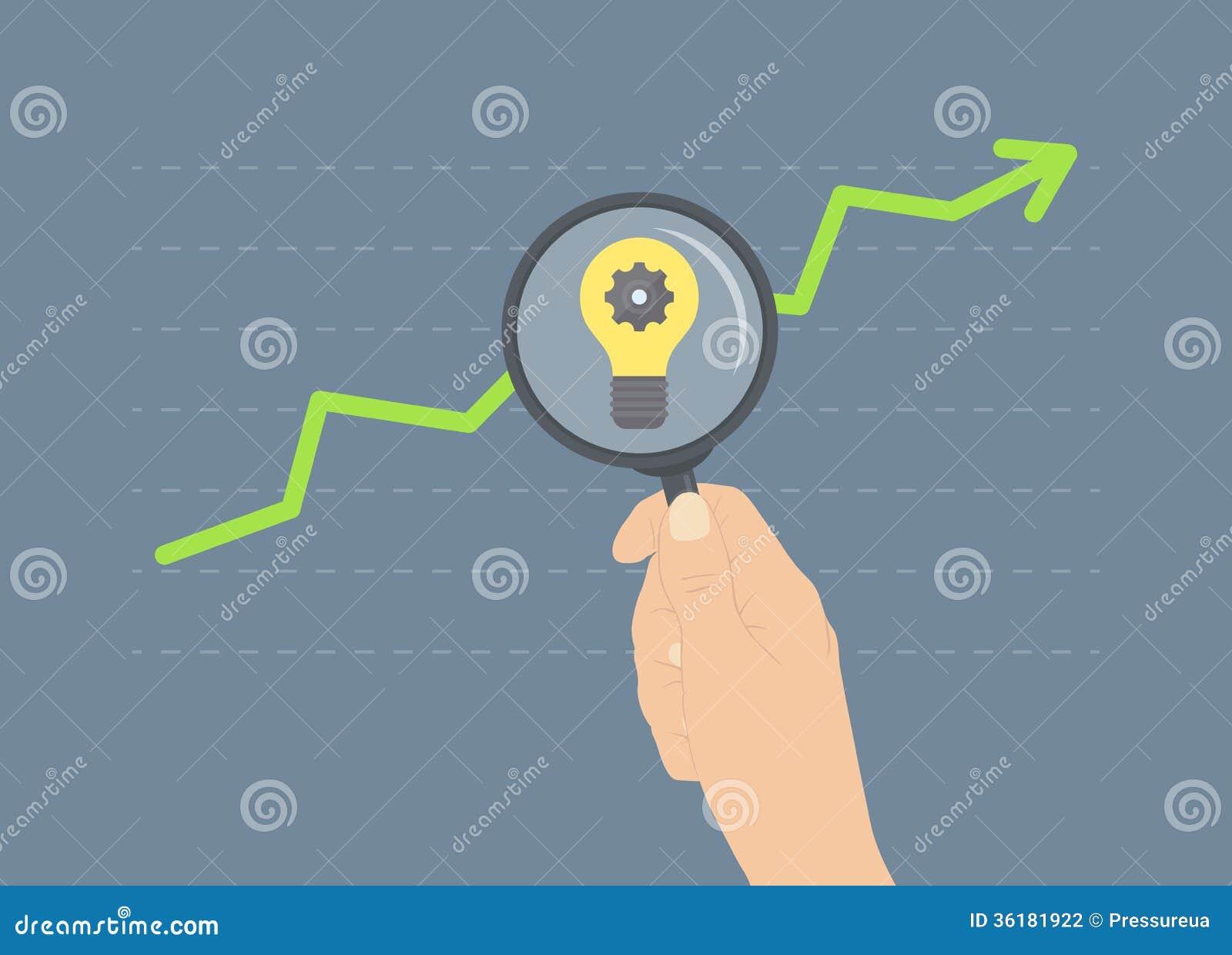 Analyzing Growth Flat Illustration Concept Stock Photography - Image: 36181922