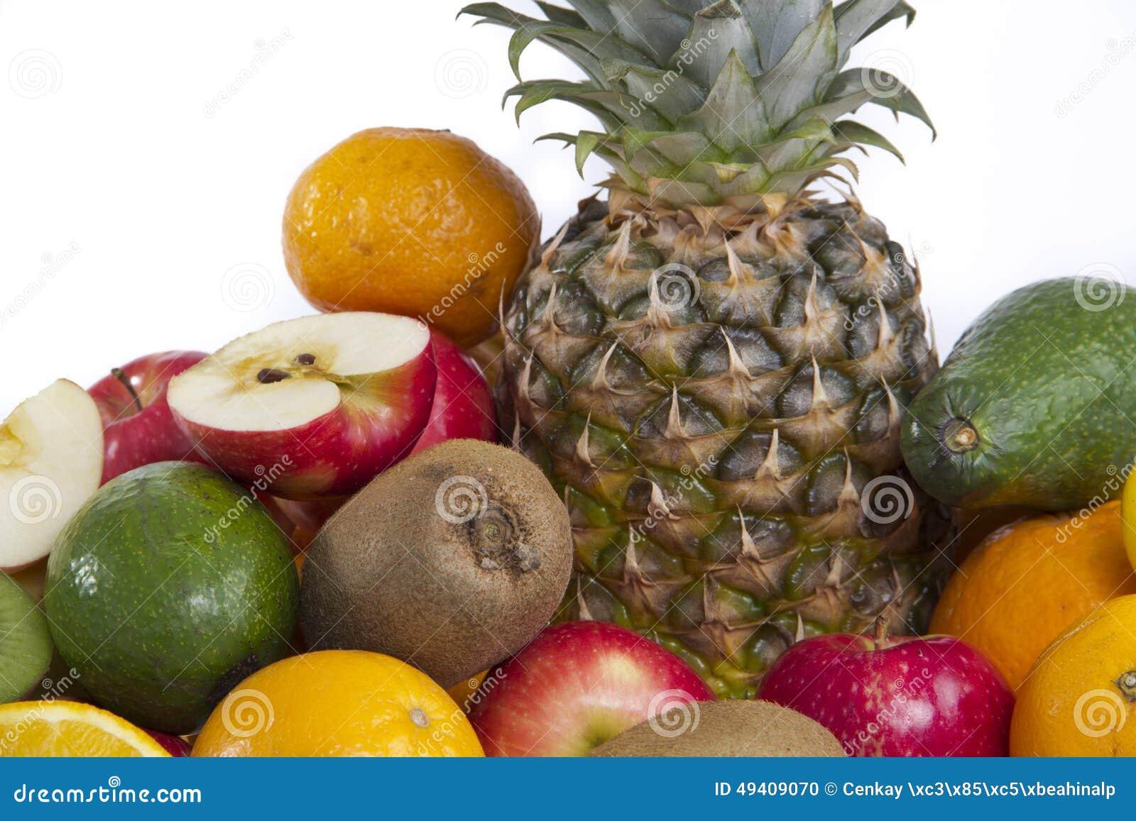 Download Ananas, Abschluss Der Tropischen Frucht Oben Lokalisiert Stockfoto - Bild von gesund, zusammenstellung: 49409070