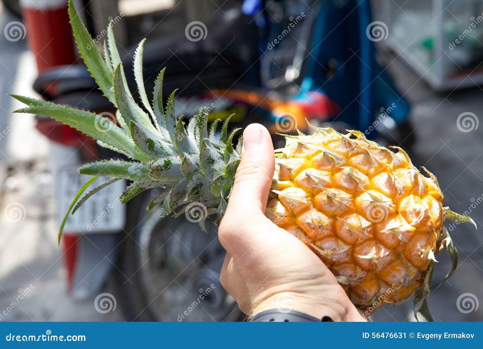 Ananas dans la main
