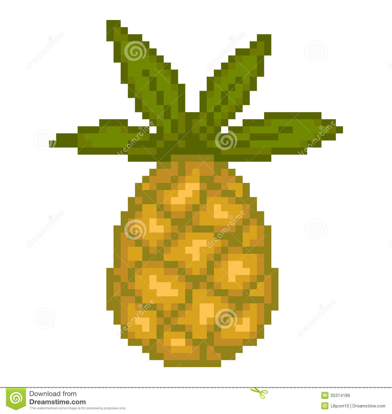pixel art ananas