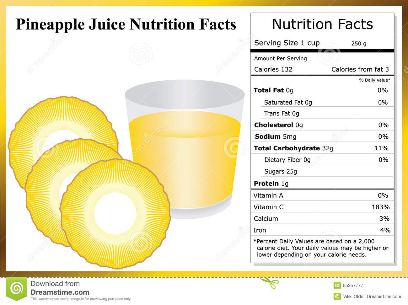 Ananas Juice Nutrition Facts