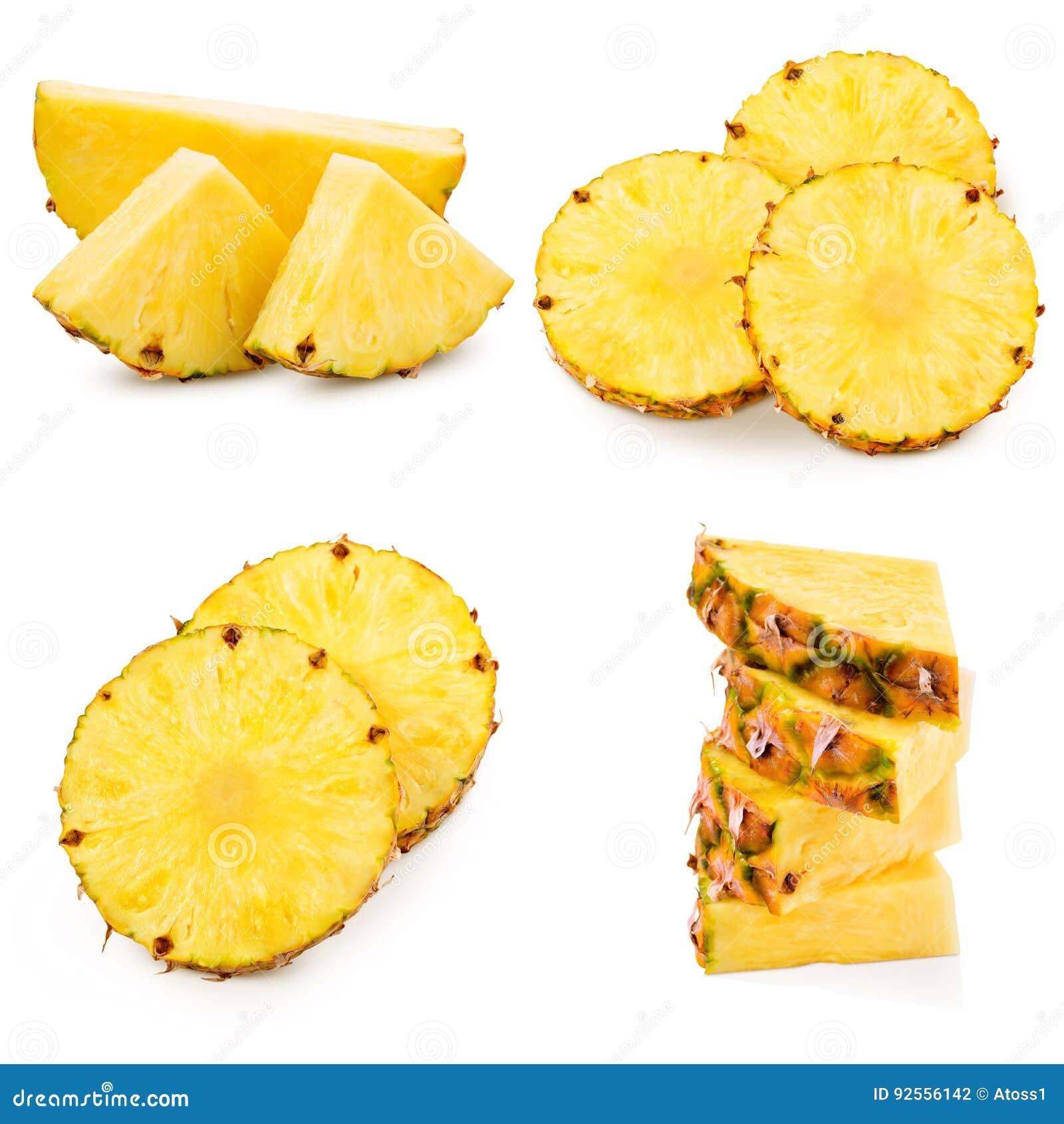 Ananas su bianco