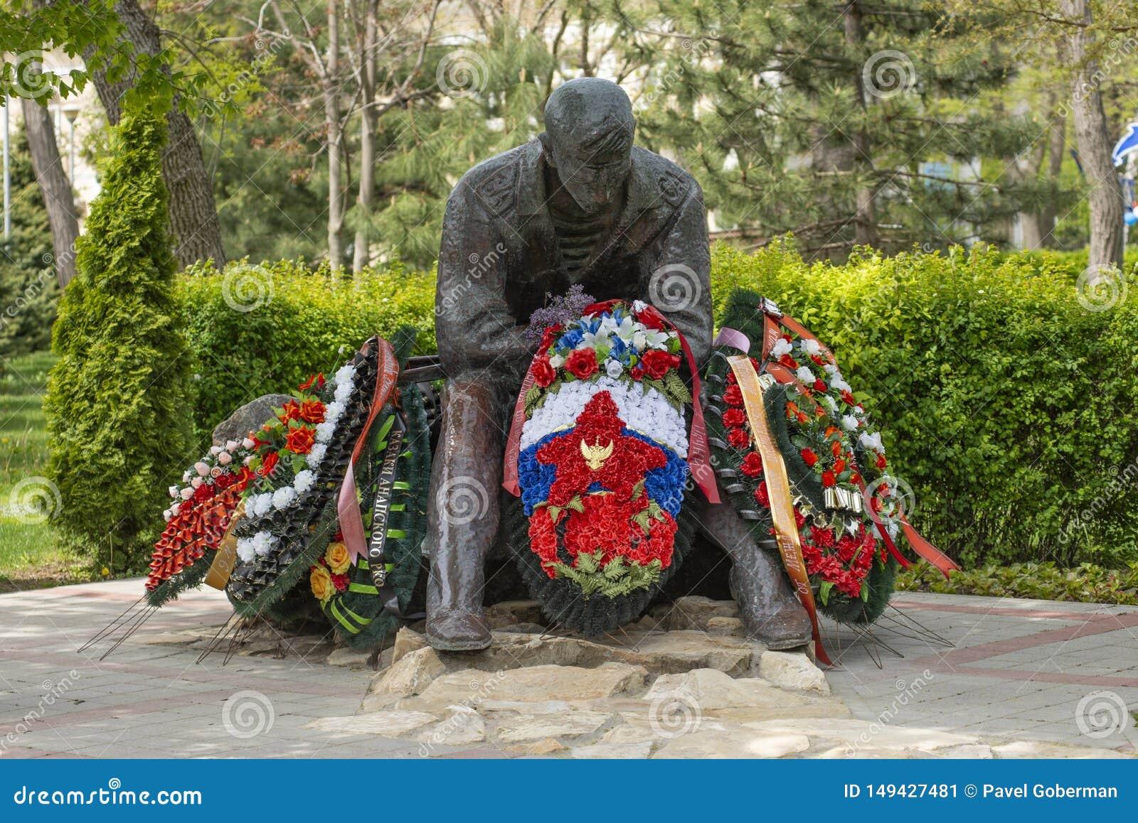Anapa, Rusia - 9 de mayo de 2019: Monumento dedicado a las guerras de los afganos