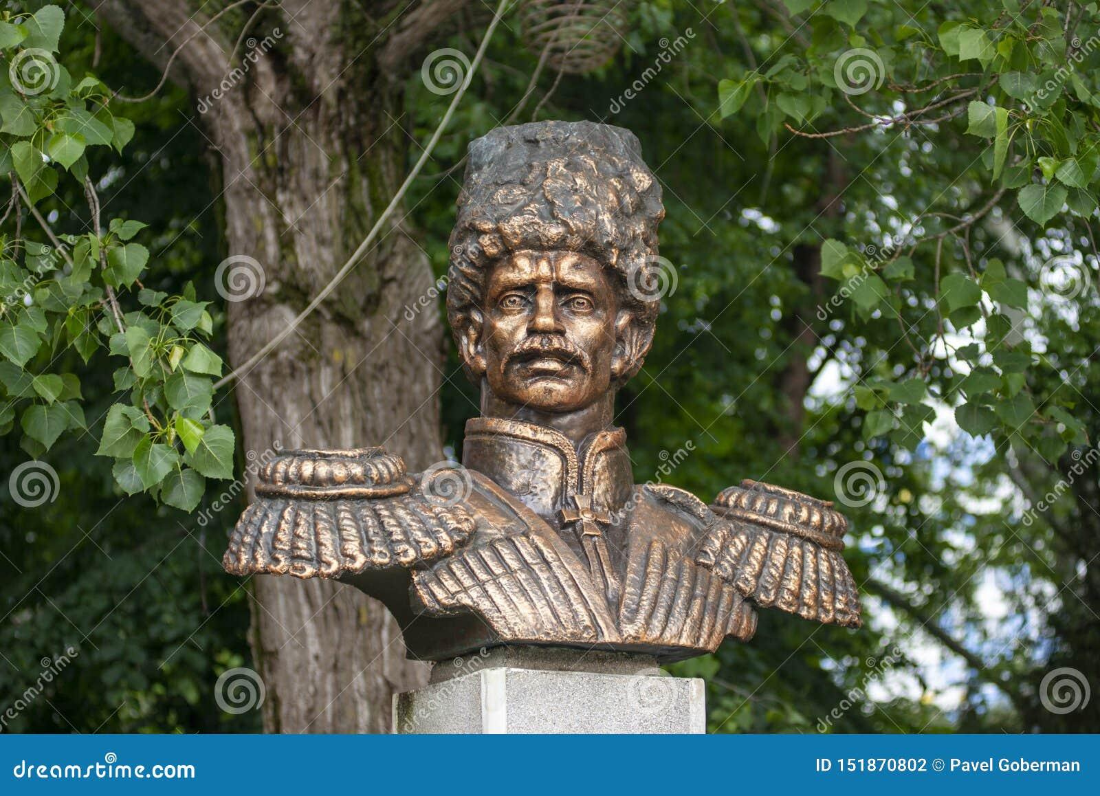 Anapa, Russie - peuvent 5, 2019 : Monument à Ataman Alexey Danilovich Beskrovny dans Anapa, Russie