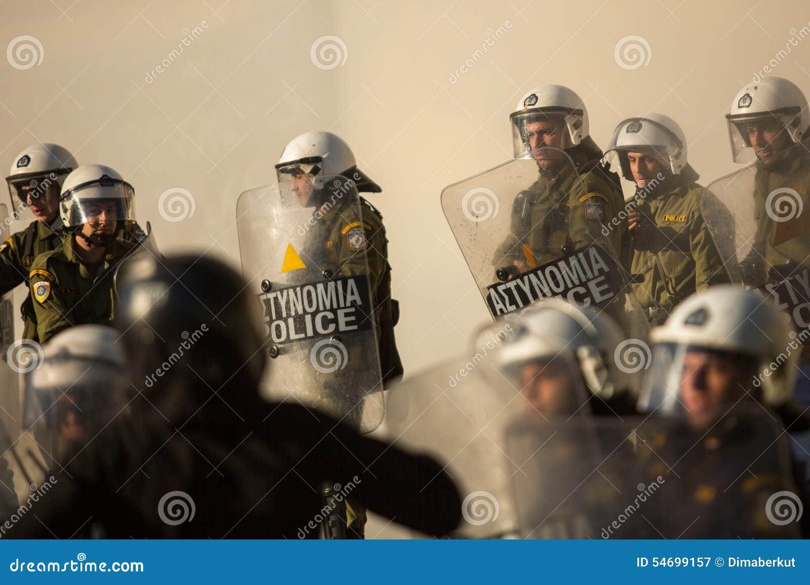 Anarchistenproteste in Athen, Griechenland