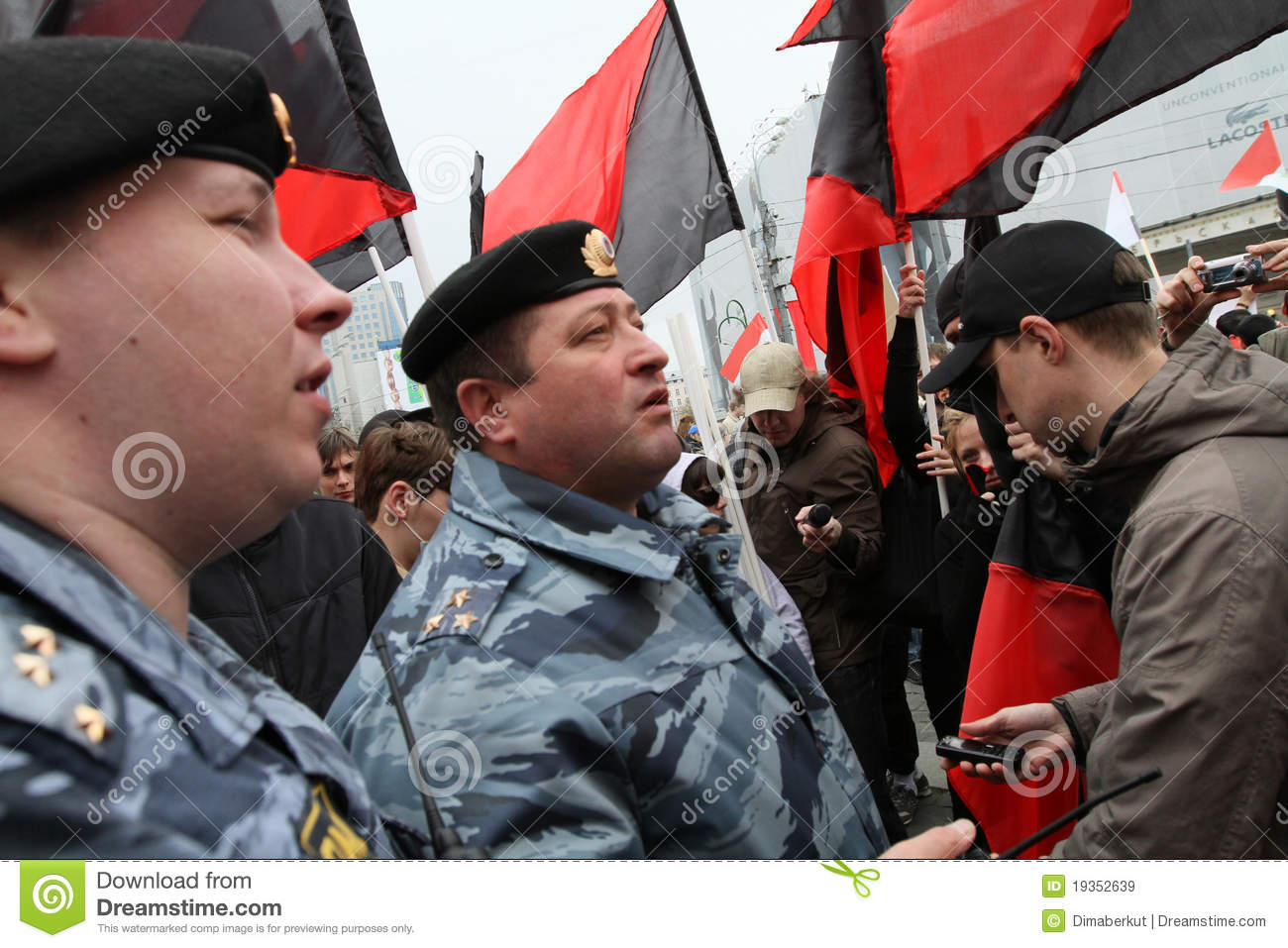 Anarchists Demonstrations In Moscow. Editorial Stock Image - Image: 19352639
