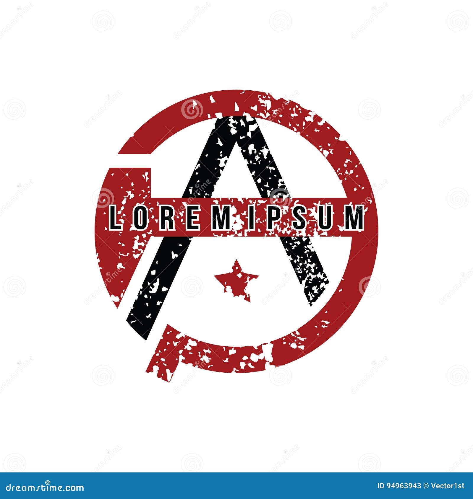 Anarchy Atheism Socialist Logo - Logotype