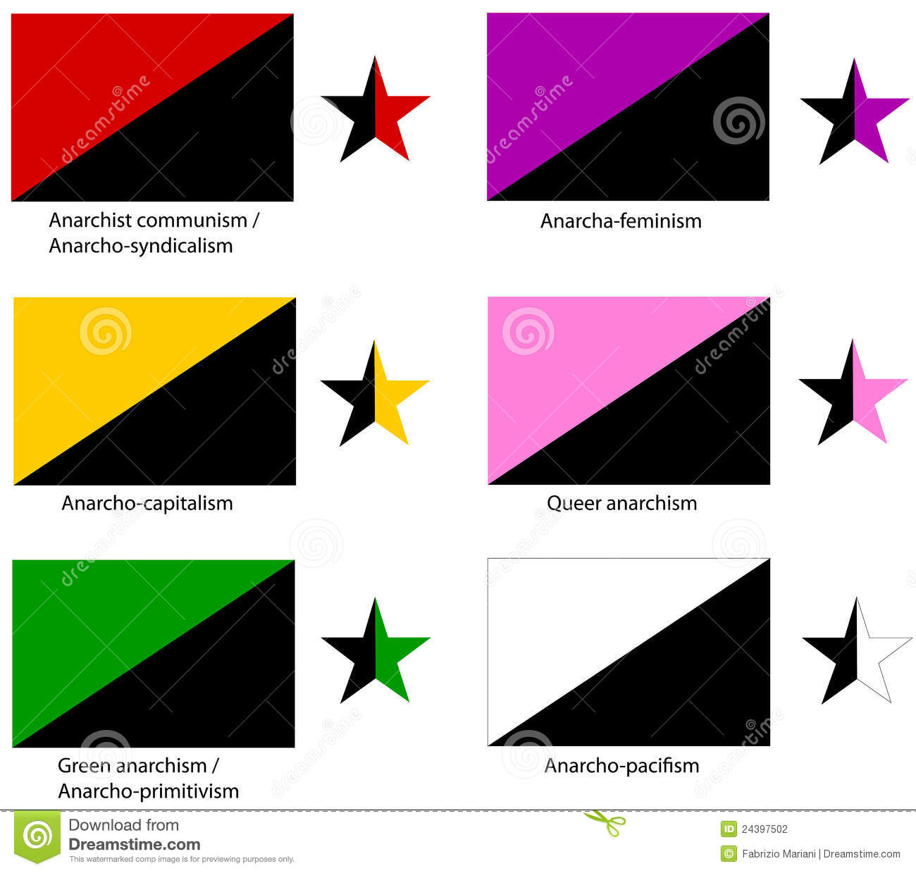 Anarchy Flags Set Stock Photography - Image: 24397502