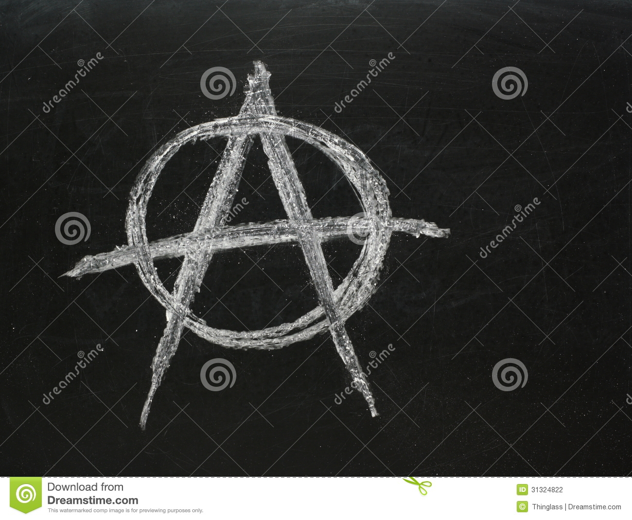 Anarchy Symbol Stock Photo Image Of Unrest Board Youth 31324822