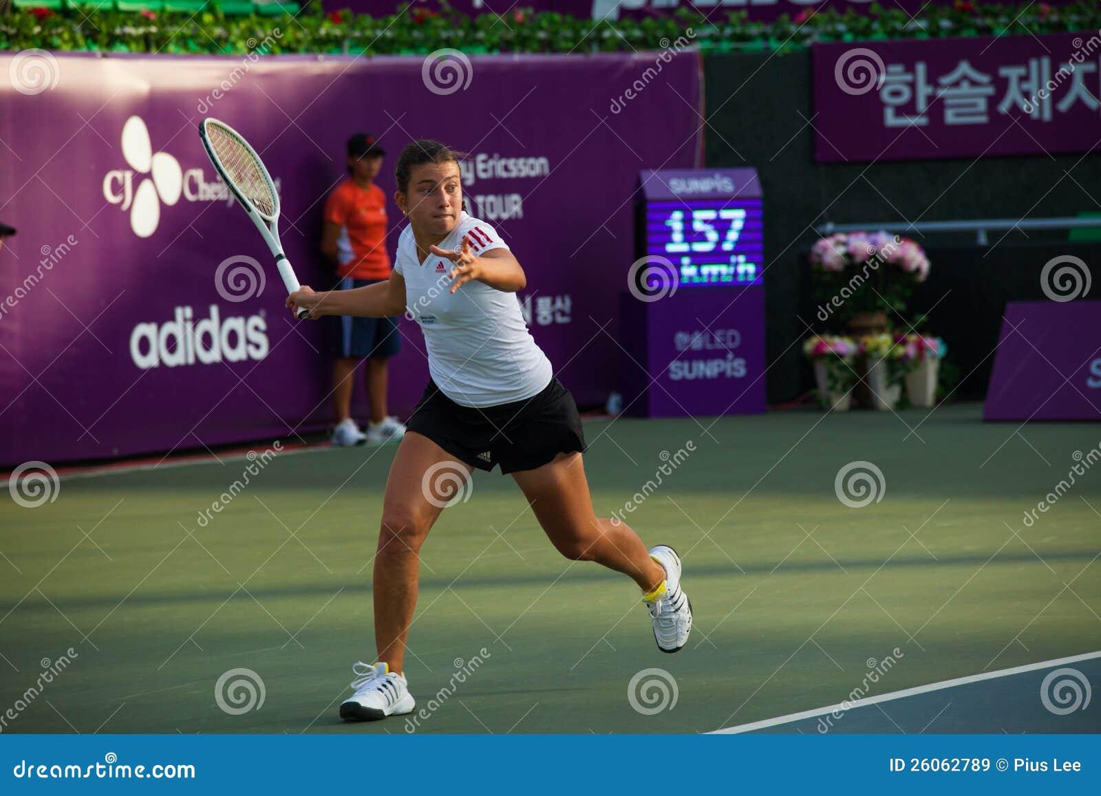 Anastasija Sevastova连续正手击球