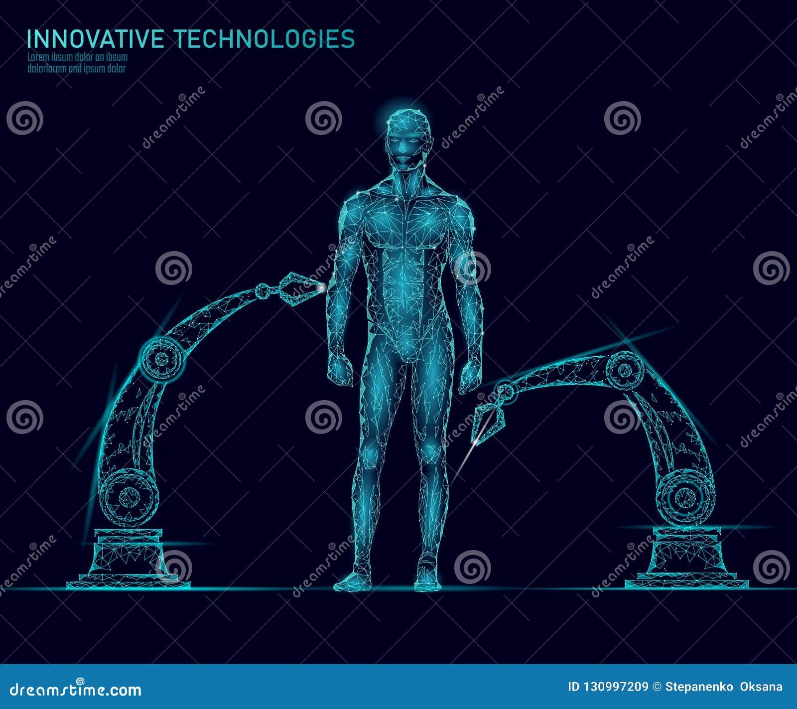 Anatomía del cuerpo humano del ajuste Tecnología del superhombre de la innovación de la ciencia de ingeniería de la DNA Reproducc