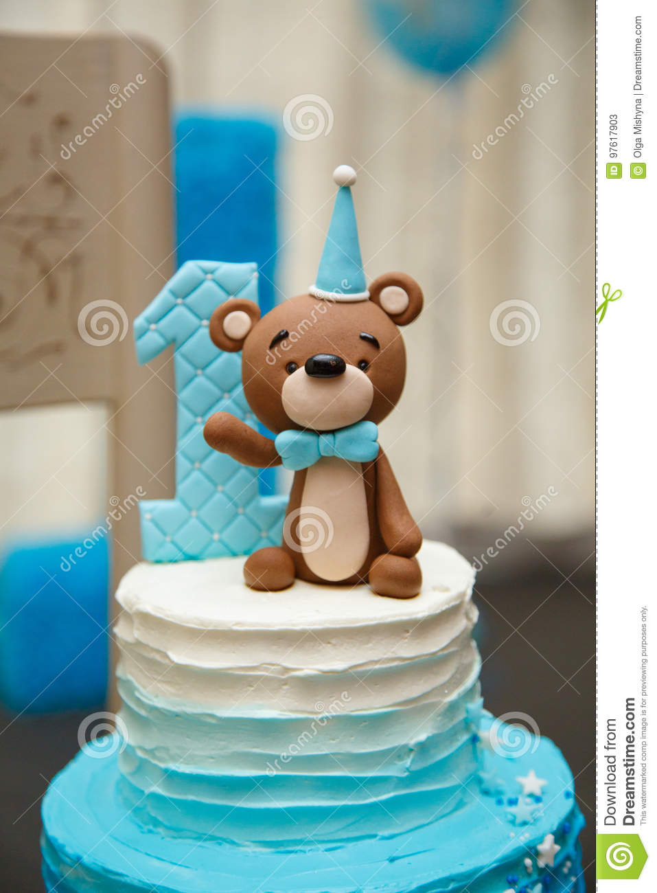 Surprising Anazing Cake For Boy S First Birthday Stock Image Image Of Personalised Birthday Cards Veneteletsinfo