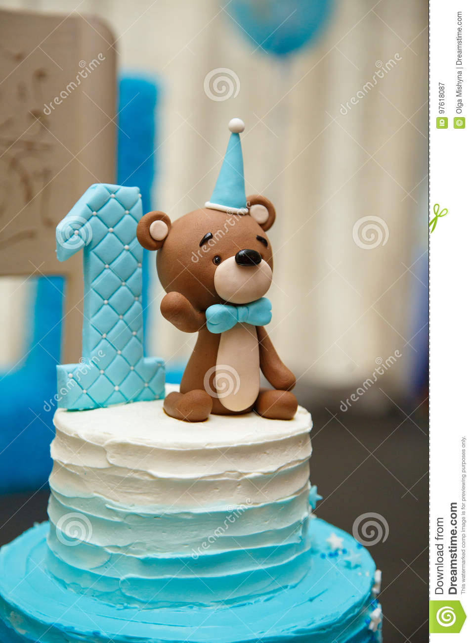 Pleasing Anazing Cake For Boy S First Birthday Stock Image Image Of Baby Funny Birthday Cards Online Alyptdamsfinfo
