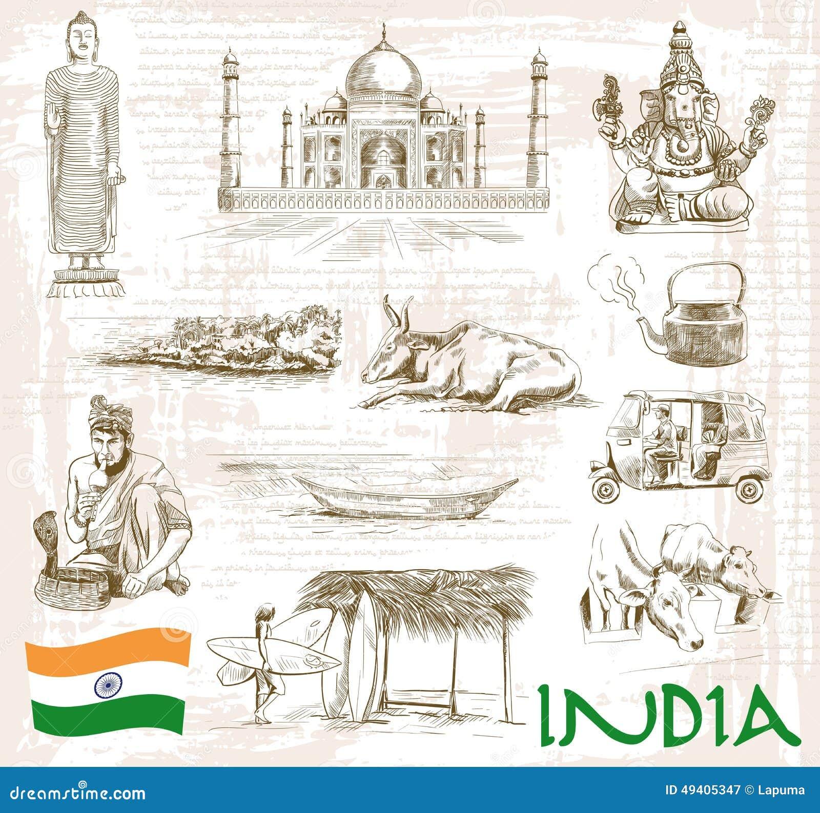 Download Anblick Indien vektor abbildung. Illustration von kultur - 49405347