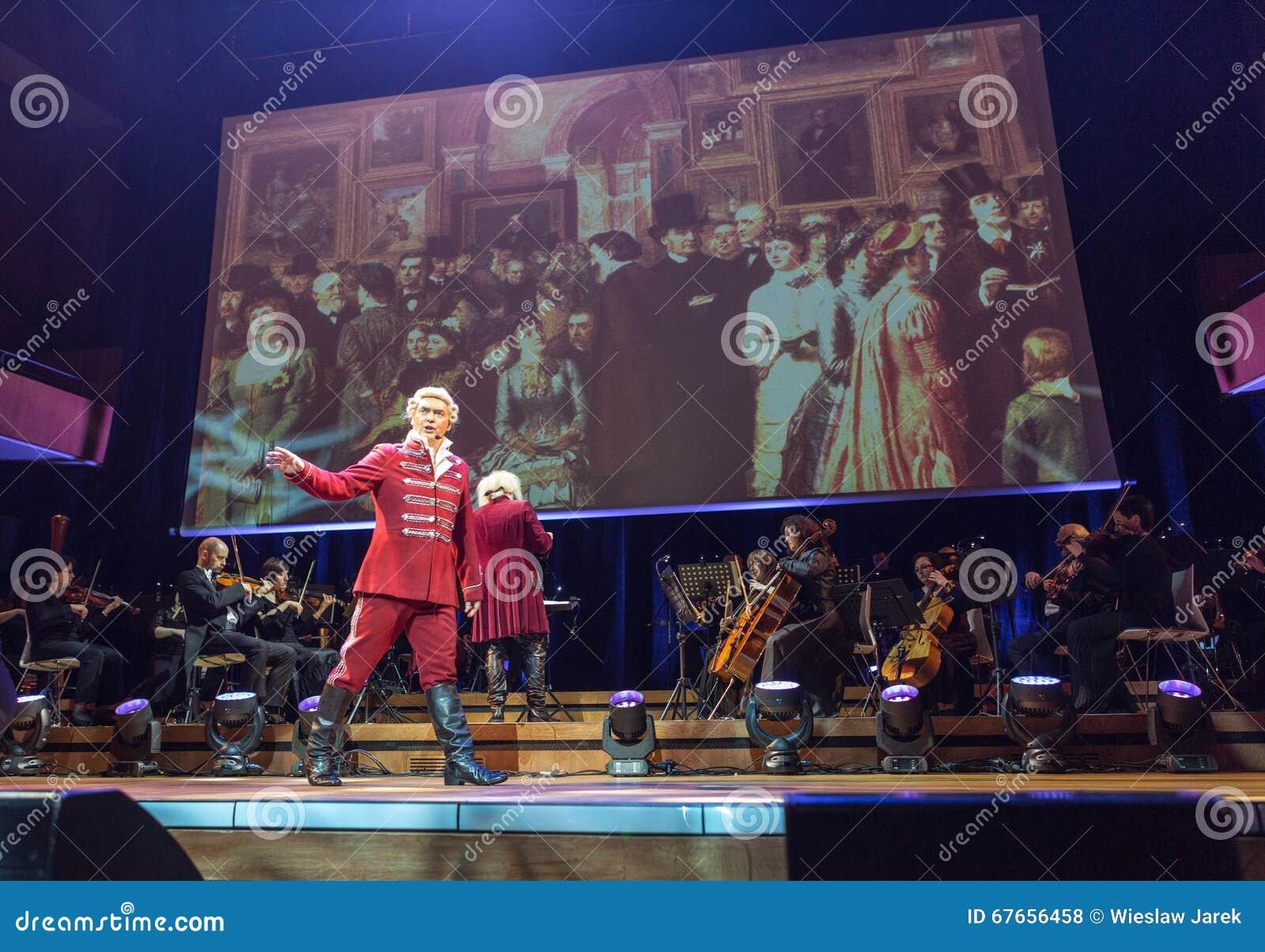 Anblick som presenterar Filharmonia Futura och M Walewska - operan är liv