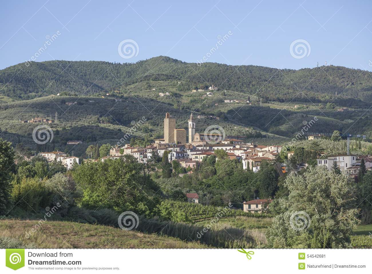 Anchiano District Of Vinci Tuscany Italy Stock Image Image Of