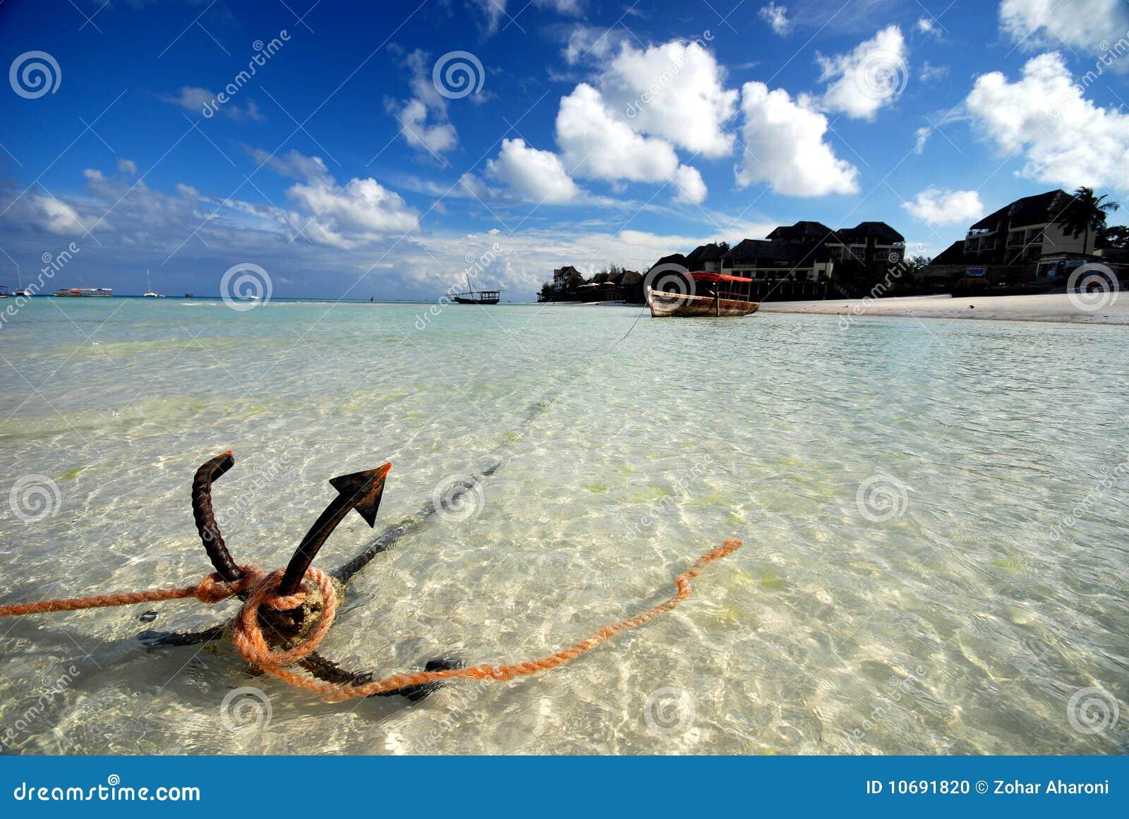 Download Anchor stock photo. Image of zanzibar, unguja, boat, africa - 10691820