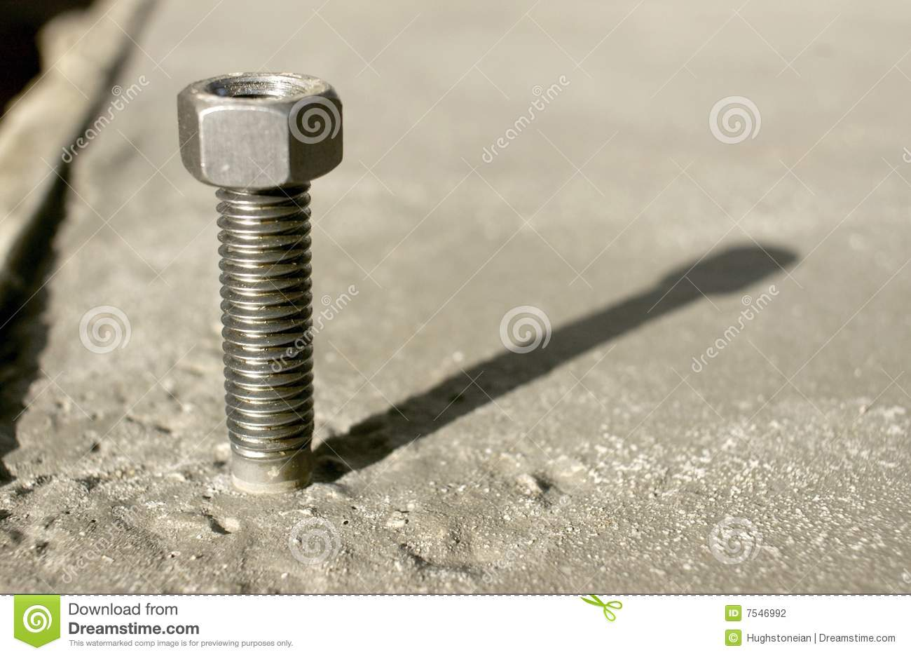 Anchor bolt in concrete stock photography image