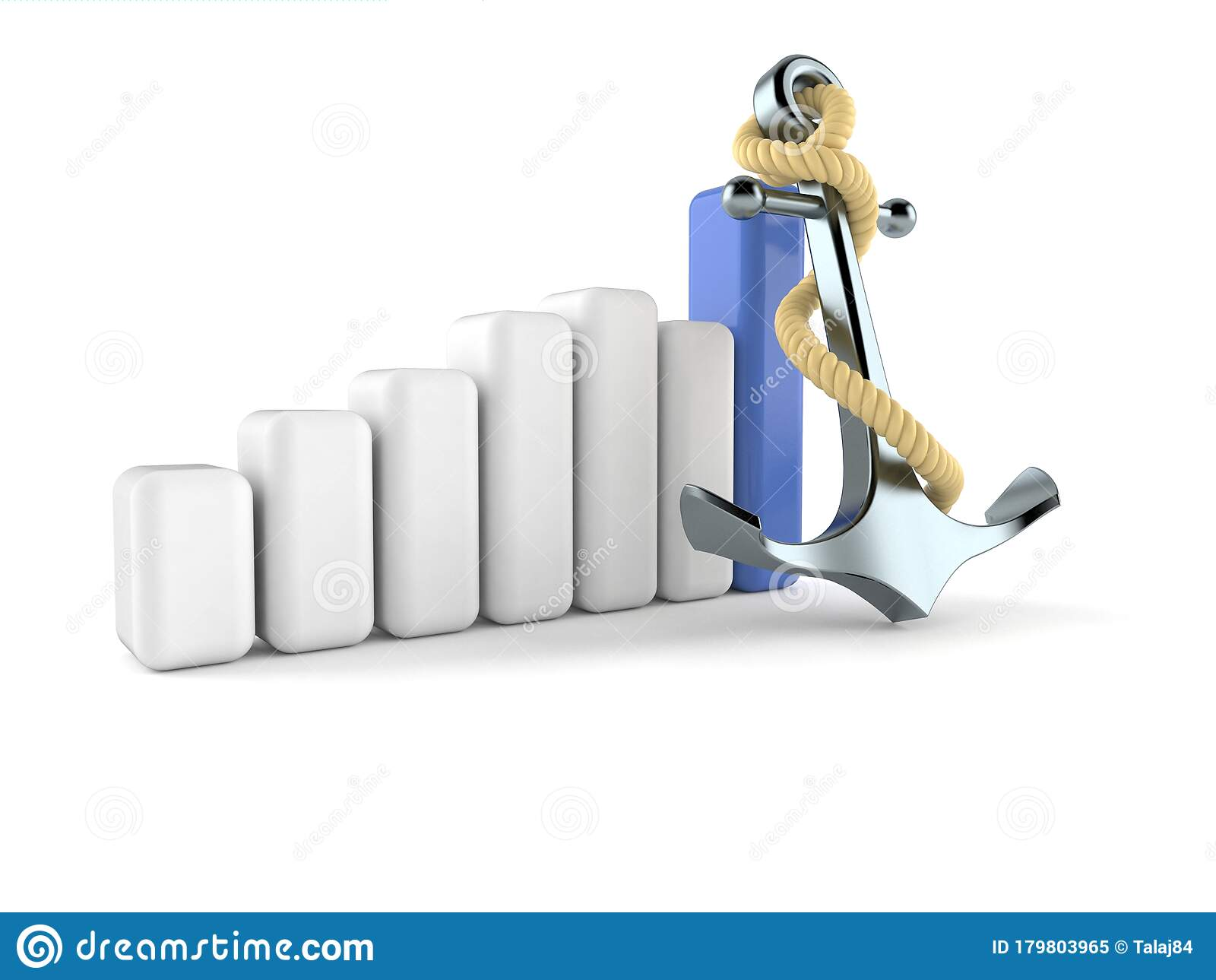Anchor With Chart Stock Illustration  Illustration Of