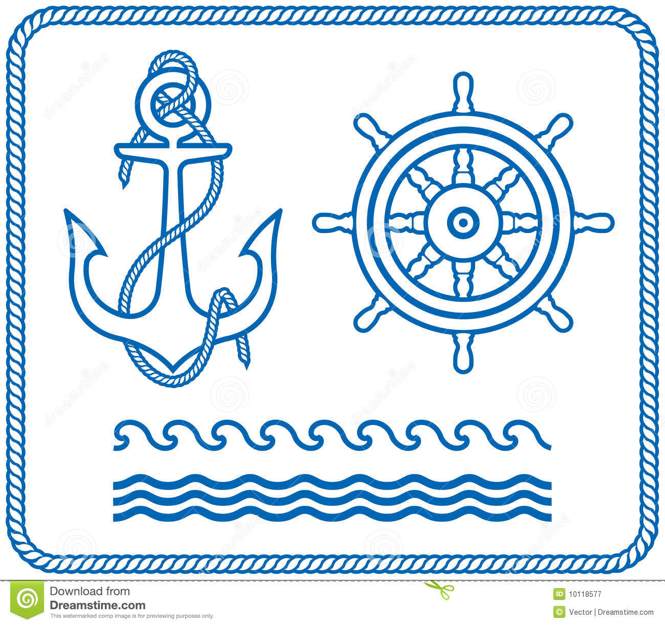 Anchor and helm nautical designs royalty free stock for Helm design
