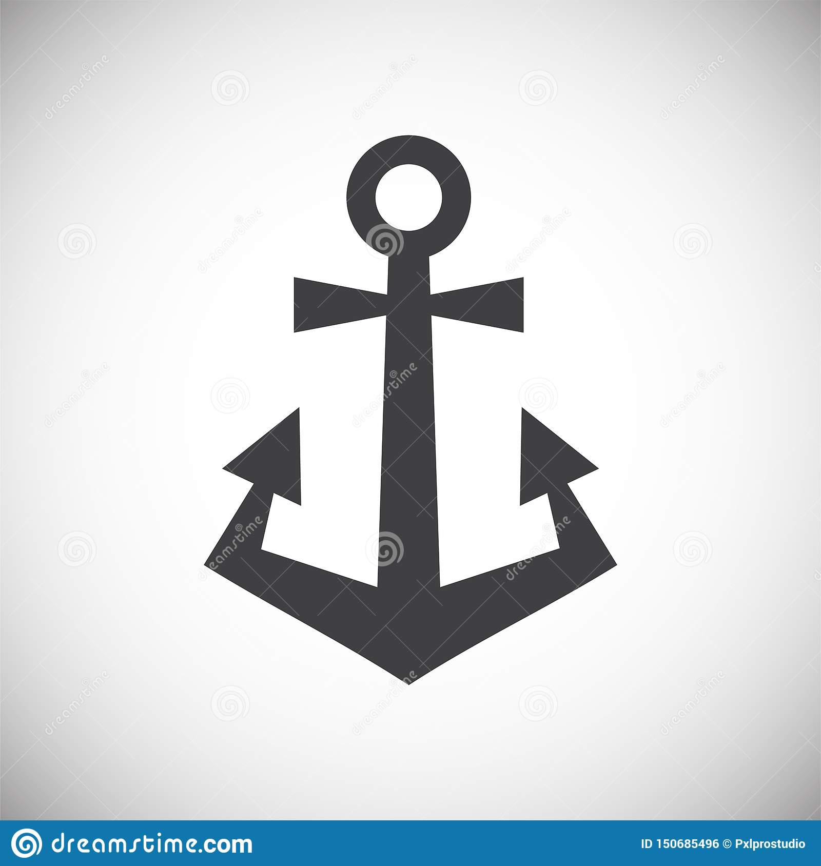 Anchor Icon On Background For Graphic And Web Design  Simple