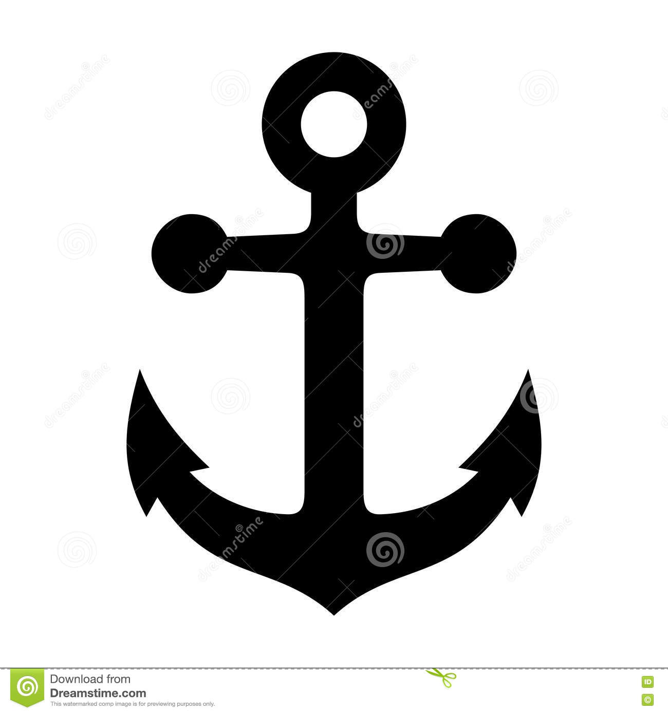 Anchor icon stock vector image 40257278 for Immagini vector