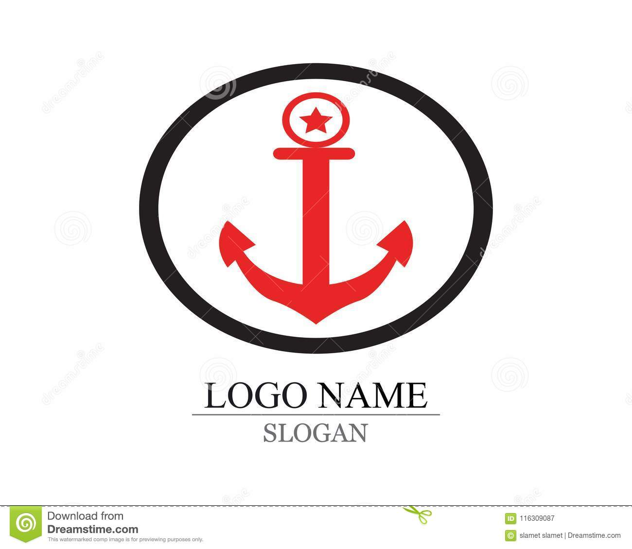 Anchor Template | Anchor Logo And Symbol Template Stock Vector Illustration Of Icon
