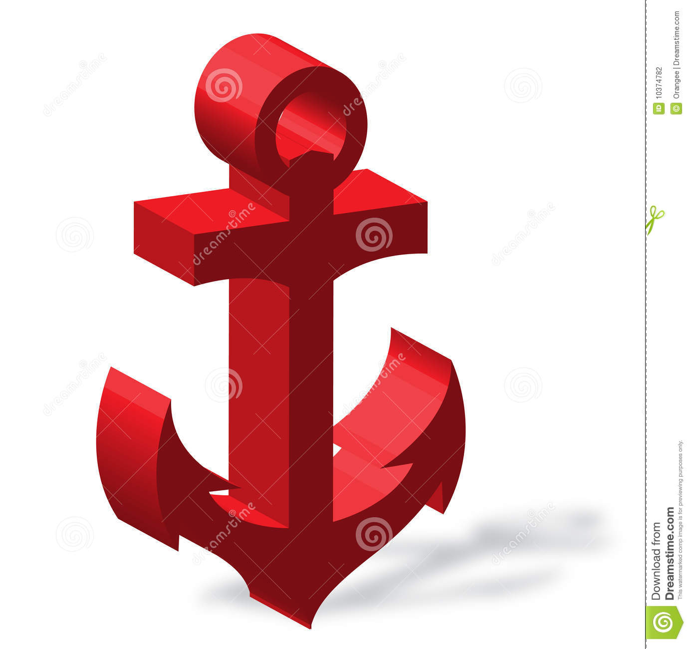Anchor Red Stock Vector Illustration Of Marine Nautical