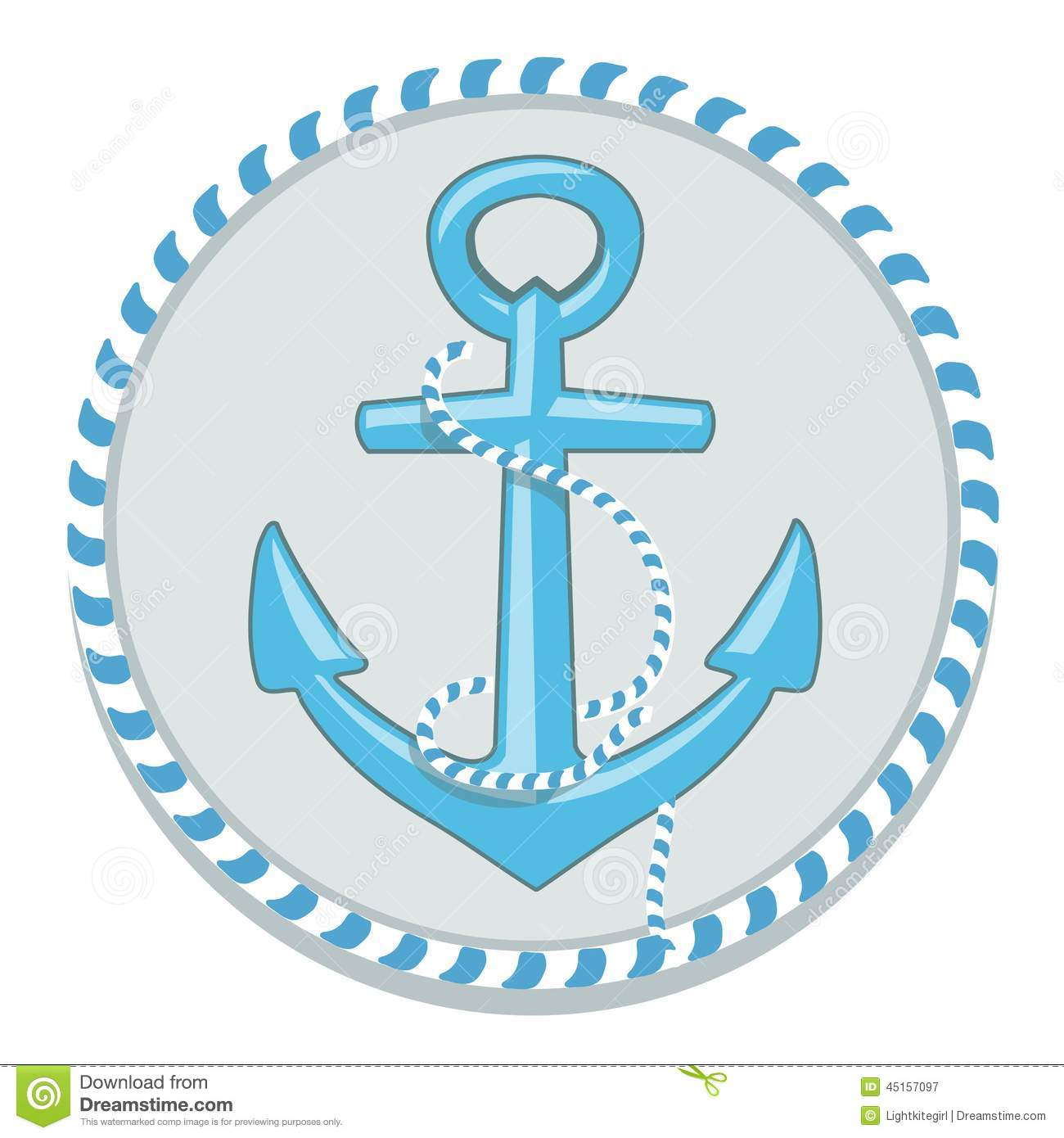 Anchor Symbol - Vector Illustration Stock Vector - Image: 45157097