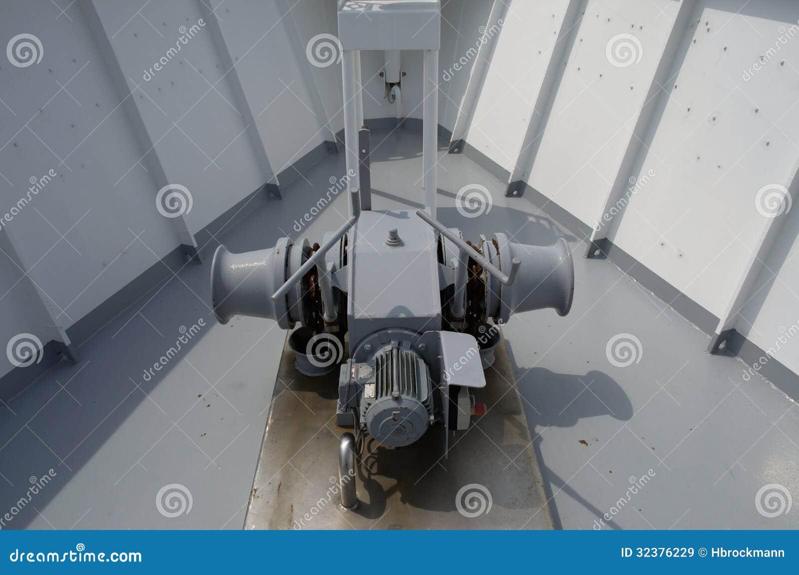 Anchor Windlass Of A Passenger Ship Royalty Free Stock Images - Image: 32376229